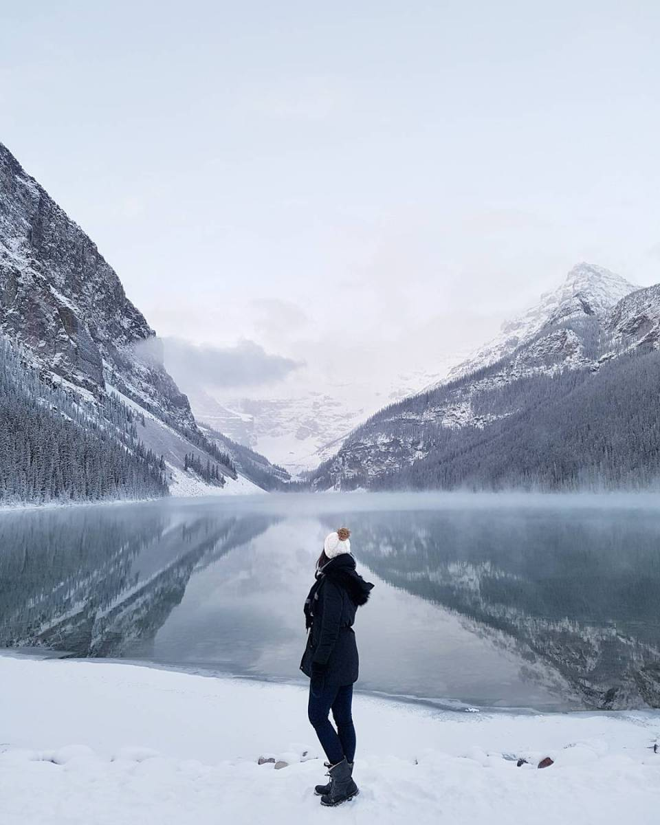 Winter at Lake Louise in Banff, Alberta